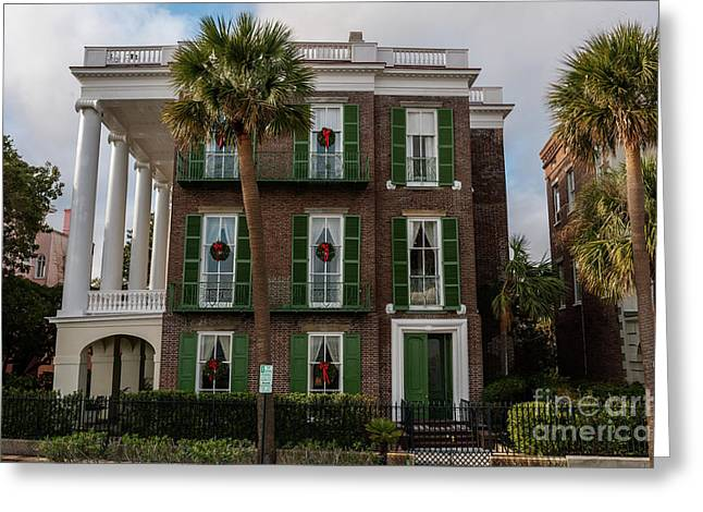 Roper Mansion In December Greeting Card