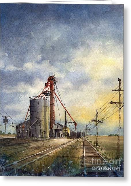 Ropes Grain Greeting Card by Tim Oliver