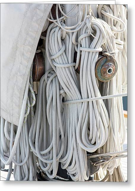 Ropes Of A Sailboat Greeting Card