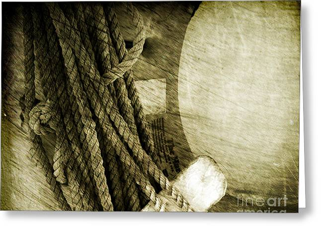 Ropes Greeting Card by Susanne Van Hulst