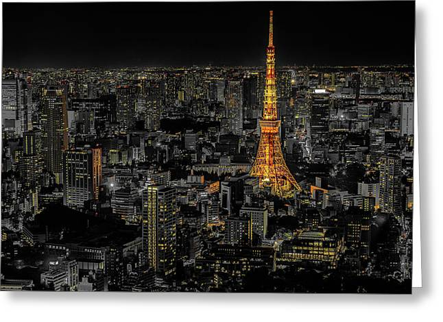 Roppongi Hills, Tokyo Greeting Card by Stefano Carniccio