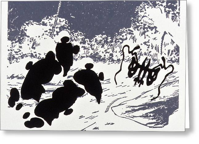 Rorschach 4 Pearls Before Swine Greeting Card by Karl Frey