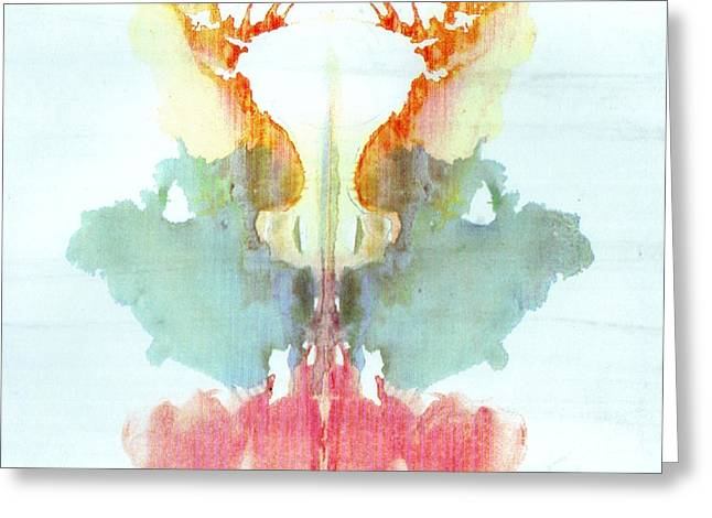 Rorschach Test Card No. 9 Greeting Card by Science Source