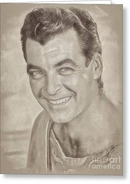Rory Calhoun Vintage Hollywood Actor Greeting Card