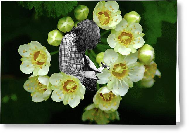 Greeting Card featuring the photograph Rory Flower by Ben Upham