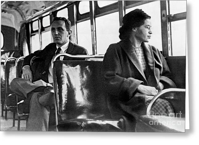 Rosa Parks On The Bus Greeting Card