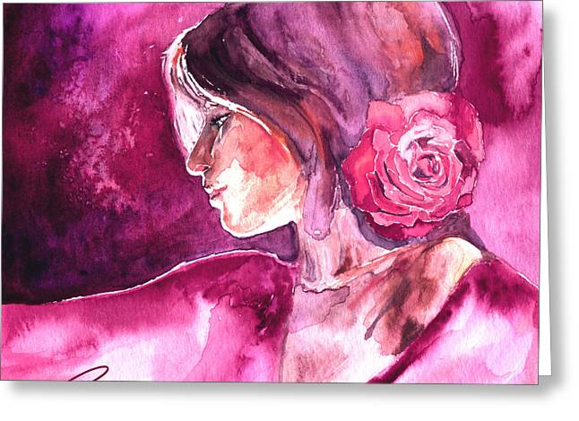 Rosa Greeting Card by Ragen Mendenhall