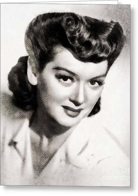 Rosalind Russell, Vintage Actress By John Springfield Greeting Card by John Springfield