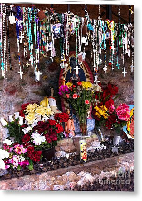 Rosaries And Flowers Greeting Card
