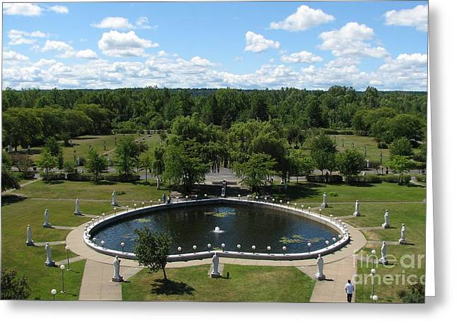 Rosary Pond At Our Lady Of Fatima Basilica Shrine In Lewiston New York Greeting Card by Rose Santuci-Sofranko