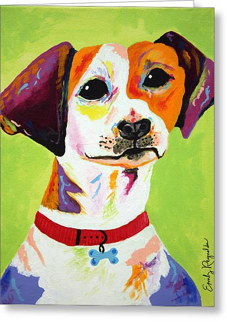 Roscoe The Jack Russell Terrier Greeting Card by Emily Reynolds Thompson