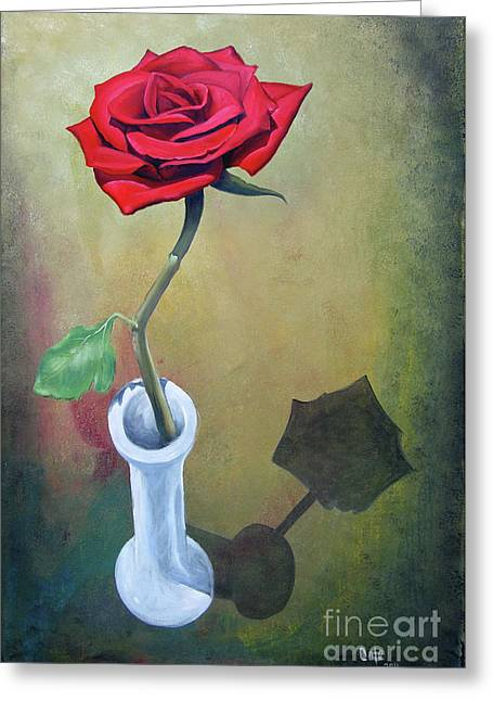 Rose 45 Greeting Card by Larry Cole
