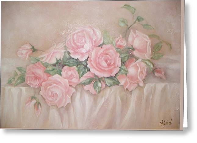 Rose Abundance Painting Greeting Card