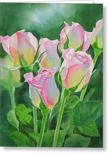Pink Roses Greeting Cards - Rose Array Greeting Card by Sharon Freeman