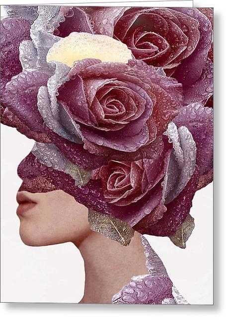 Rose Greeting Card by Bojan Jevtic