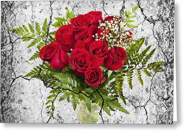 Red Bouquet Greeting Cards - Rose bouquet Greeting Card by Elena Elisseeva