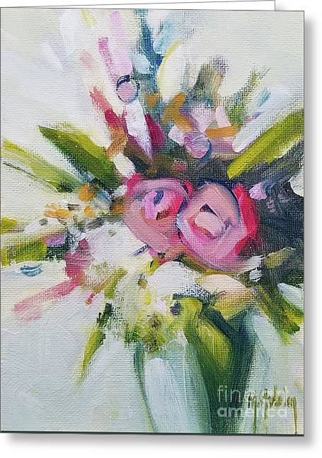 Rose Bouquet Flower Color Spring Greeting Card