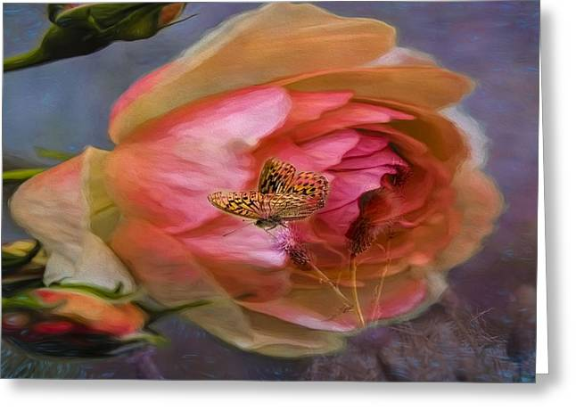 Rose Buttefly Greeting Card by Leif Sohlman