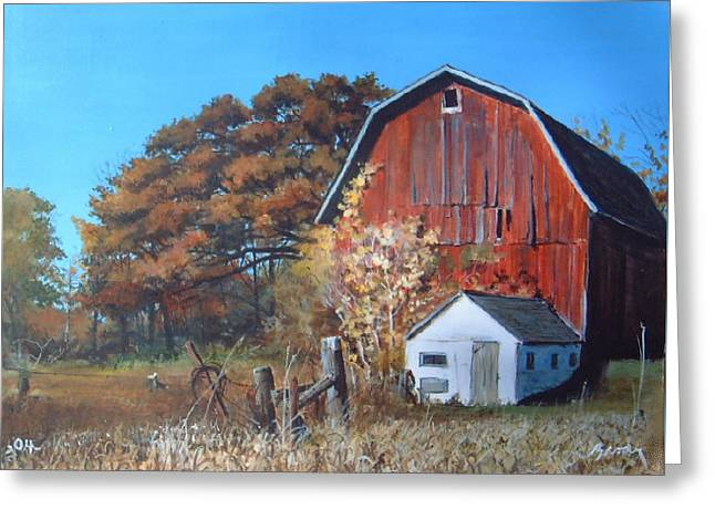 Rose Center Barn Greeting Card
