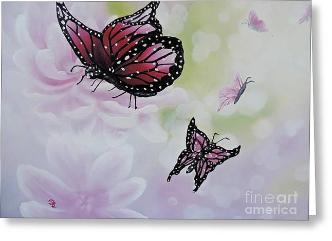 Rose Colored Glasses Greeting Card by Dianna Lewis