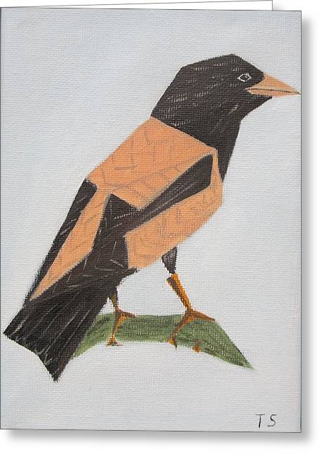 Rose-coloured Starling Greeting Card