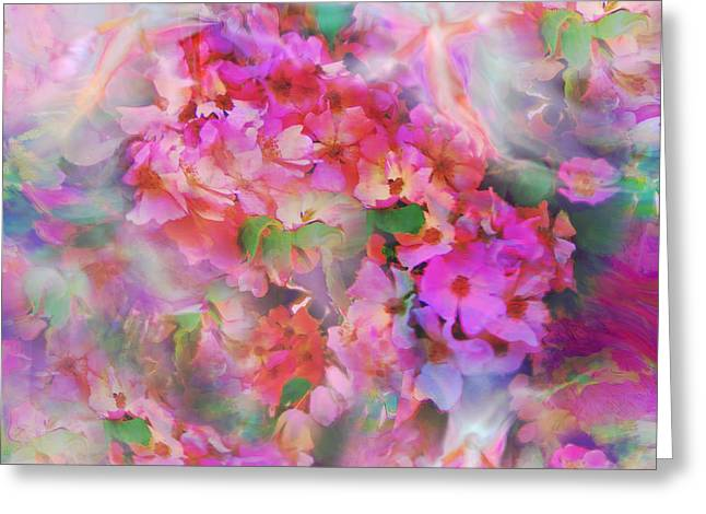 Spirtual Greeting Cards - Rose Devas Greeting Card by Glenyss Bourne
