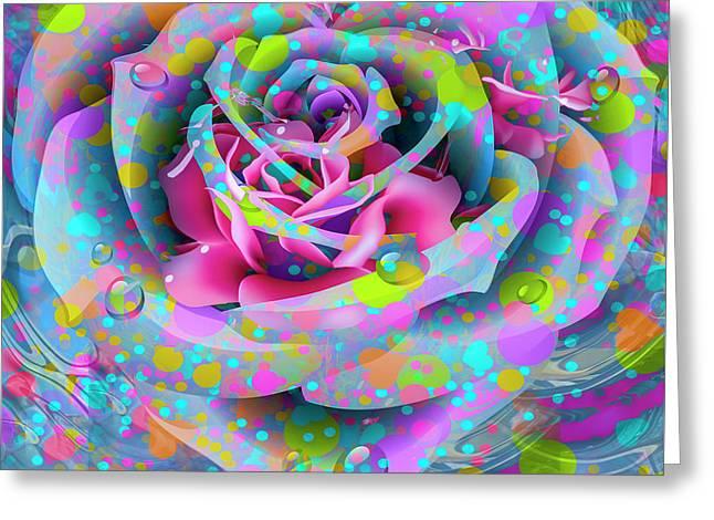 Greeting Card featuring the digital art Rose by Eleni Mac Synodinos