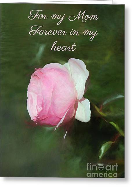 Greeting Card featuring the photograph Rose For Mom by Elaine Teague