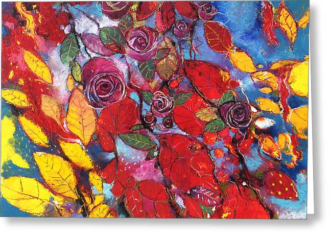 Rose Garden Greeting Card by Alessandro Andreuccetti