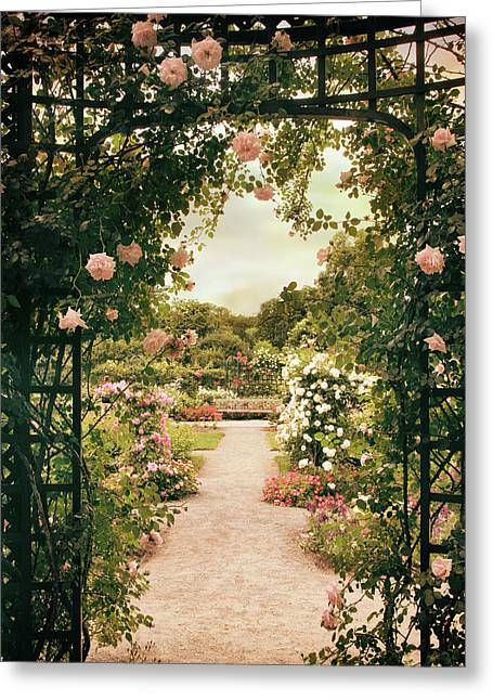 Rose Garden Grace Greeting Card by Jessica Jenney