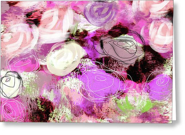 Rose Garden Promise- Art By Linda Woods Greeting Card