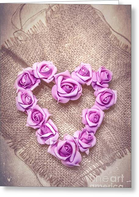 Rose Heart Greeting Card by Svetlana Sewell