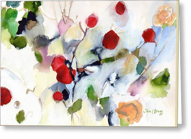 Rose Hips At Christmas II Greeting Card by Janel Bragg