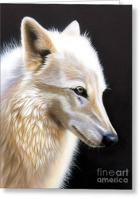 Wolf Song Studio Greeting Cards - Rose III Greeting Card by Sandi Baker