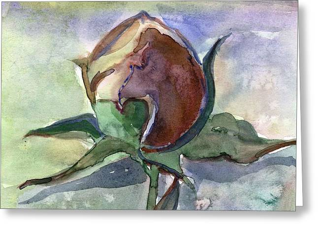 Rose In The Snow Greeting Card by Mindy Newman