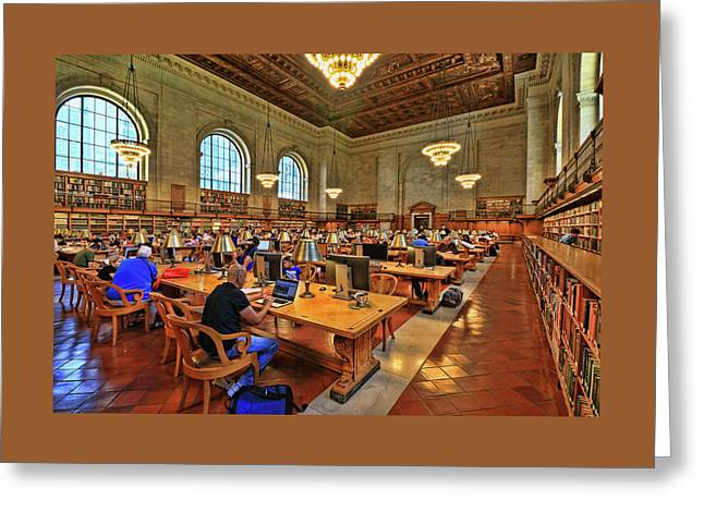 Rose Main Reading Room - N Y Public Library # 2 Greeting Card