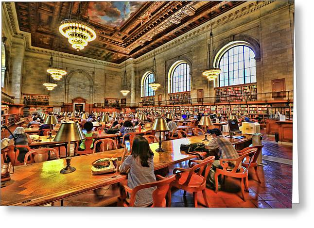 Rose Main Reading Room - N Y Public Library Greeting Card