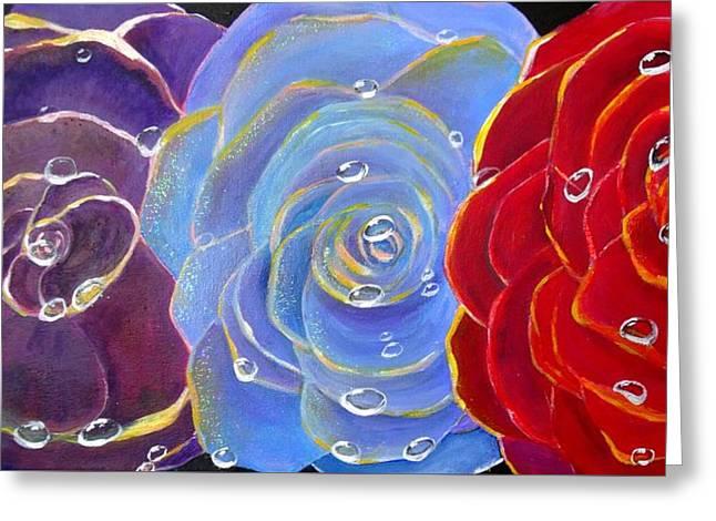 Rose Medley Greeting Card by Karen Jane Jones