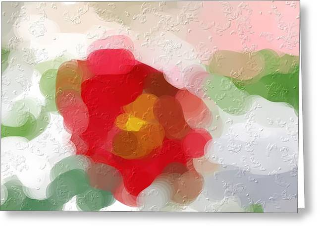 Rose Of Sharon Abstract Greeting Card by Don Wright