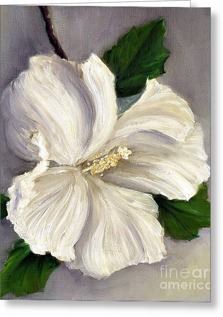 Randy Burns Greeting Cards - Rose of Sharon Diana Greeting Card by Randy Burns