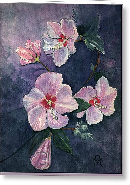 Rose Of Sharon Greeting Card by Katherine Miller