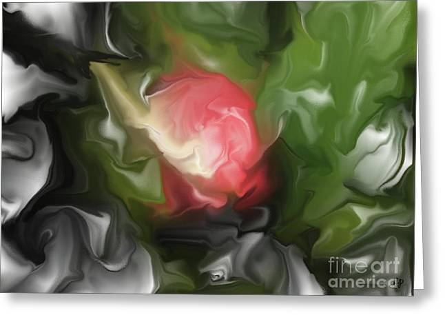 Rose On Troubled Water Greeting Card