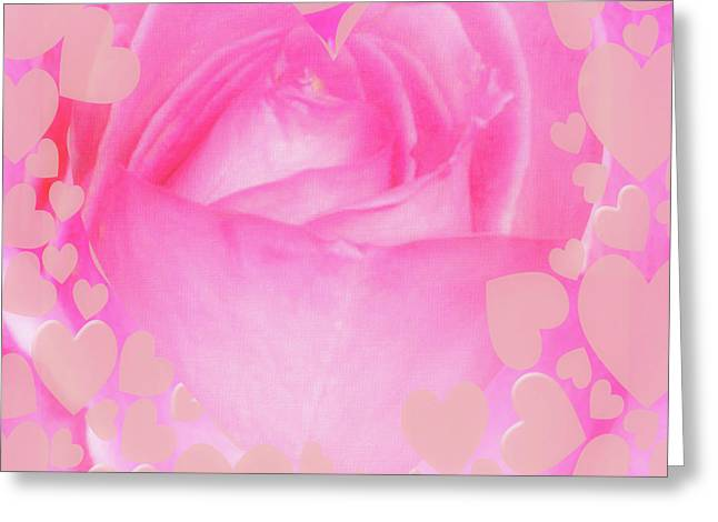 Rose Pastel Soft Sorbet 4 Greeting Card by Mona Stut