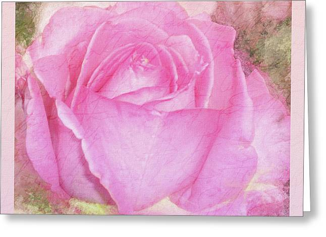 A Rose Pastel Soft Sorbet 2 Greeting Card by Mona Stut