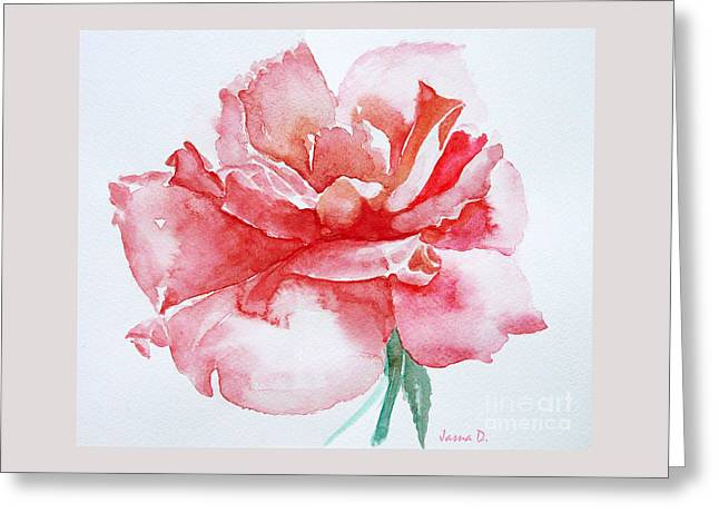 Rose Pink Greeting Card