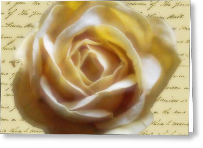 Rose Poem Greeting Card by Kristie  Bonnewell