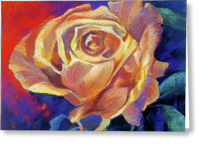 Rose Greeting Card by Rae Andrews