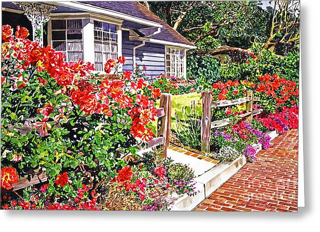 Rose Ranch House - Bel-air Greeting Card