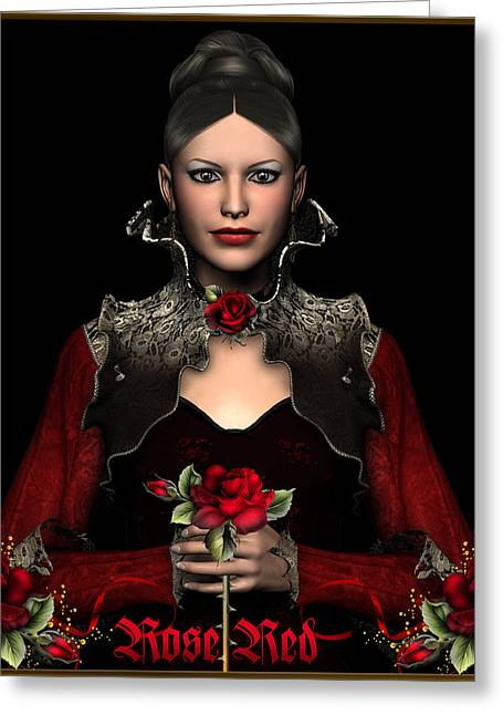Rose Red Greeting Card by David Griffith