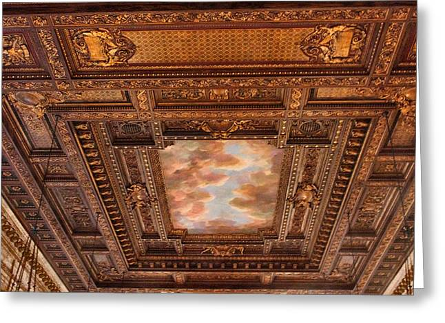 Rose Room Ceiling Greeting Card by Jessica Jenney